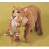 peluche debout lionne avec son petit 140 cm piutre 2503