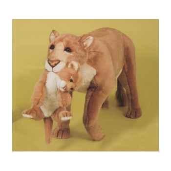 Peluche debout lionne avec son petit 140 cm Piutre -2503