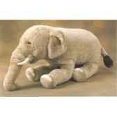 peluche allongee elephant d inde 60 cm piutre 2576