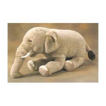 Peluche allongée éléphant d'Inde 60 cm Piutre -2576