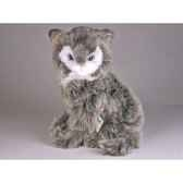 peluche assise chat sorani cat 30 cm piutre 319