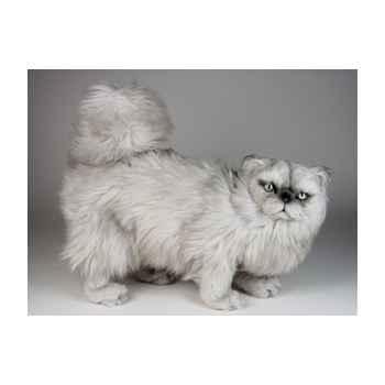 Peluche debout chat persan argenté 50 cm Piutre -2436