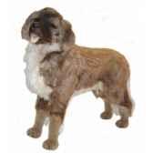 peluche debout chien leonberge 100 cm piutre 3360