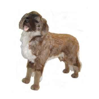 Peluche debout chien leonberge 100 cm Piutre -3360