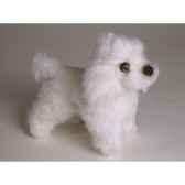 peluche debout miniature poodle 24 cm piutre 4286