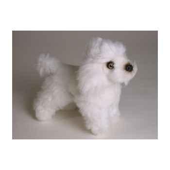 Peluche debout miniature poodle 24 cm Piutre -4286