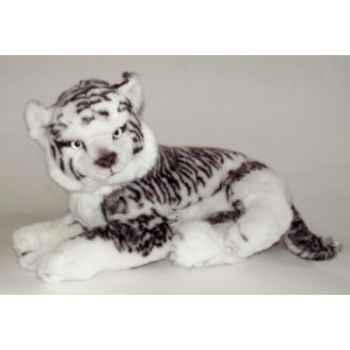 Peluche allongée tigreau de sibérie 55 cm Piutre -2531