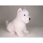 peluche assise west higland white terrier 45 cm piutre 2275