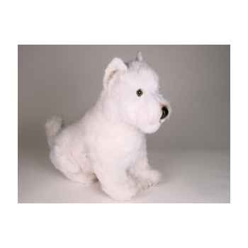 Peluche assise west higland white terrier 45 cm Piutre -2275