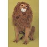 peluche assise lion 120 cm piutre 2501