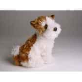 peluche assise fox terrier 28 cm piutre 1300