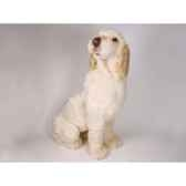 peluche assise spinone italien 90 cm piutre 2261
