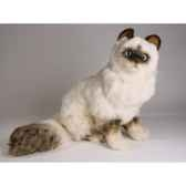peluche assise chat birman 50 cm piutre 2311