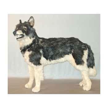 Peluche debout loup caucasien 100 cm Piutre -1240