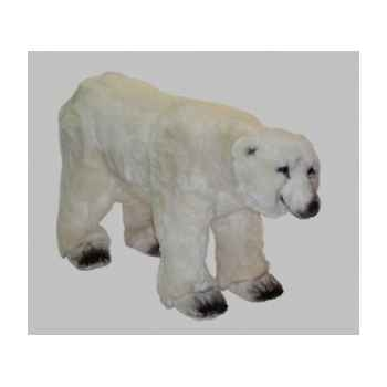 Peluche ours polaire sur ses pattes arrières 120 cm Piutre -2129
