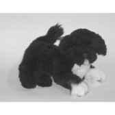 peluche allongee chien d eau portugais 40 cm piutre 4227