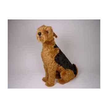 Peluche assise airedale terrier 90 cm Piutre -2218