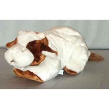 Peluche couchée vache 65 cm Piutre -G126
