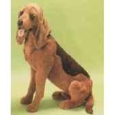 peluche assise chien de saint hubert 85 cm piutre 2265