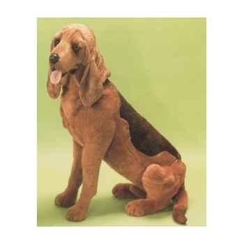 Peluche assise chien de Saint Hubert 85 cm Piutre -2265