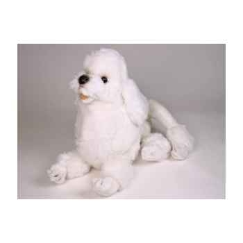 Peluche allongée poodle blanc 60 cm Piutre -259