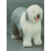peluche debout old english sheepdog 100 cm piutre 3290
