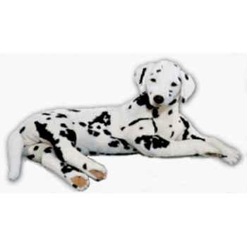 Peluche allongée dalmatien 80 cm Piutre -3242