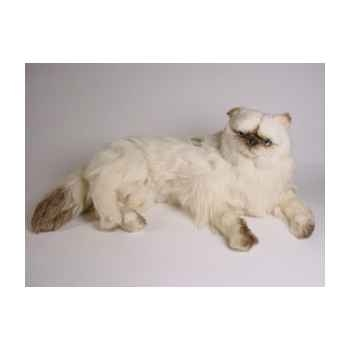 Peluche allongée chat colour point ou himalaya 60 cm Piutre -2428