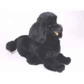 peluche allongee poodle noir 60 cm piutre 253