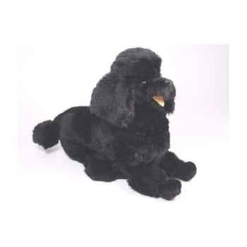 Peluche allongée poodle noir 60 cm Piutre -253