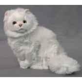 peluche assise chat persan blanc 35 cm piutre 314