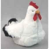 peluche poule blanche 40 cm piutre 700
