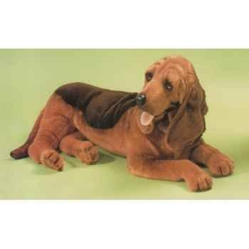 Peluche allongée chien de Saint Hubert 85 cm Piutre -2266