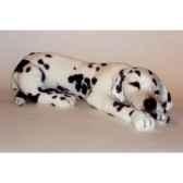 peluche allongee dalmatien tb 80 cm piutre 3245