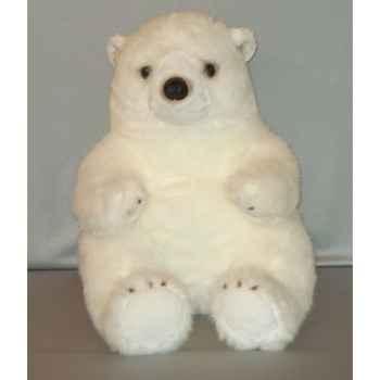 Peluche ours blanc 60 cm Piutre -G021