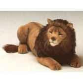 peluche allongee lion 85 cm piutre 2507