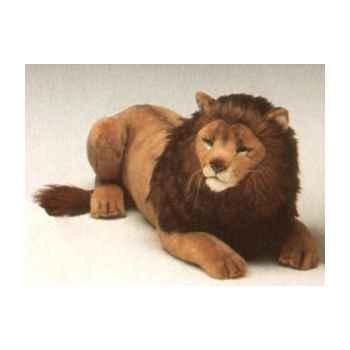 Peluche allongée lion 85 cm Piutre -2507