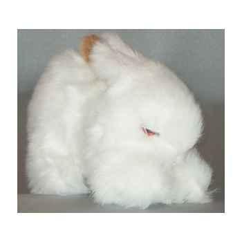 Peluche lapin marron et blanc 20 cm Piutre -707