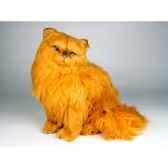 peluche assise chat persan roux 40 cm piutre 2455