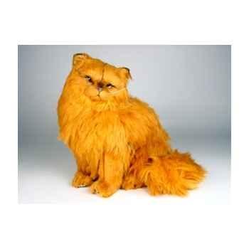 Peluche assise chat persan roux 40 cm Piutre -2455