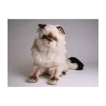Peluche assise chat colour point ou himalaya 40 cm Piutre -2360