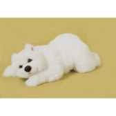peluche allongee ours polaire 50 cm piutre 2116