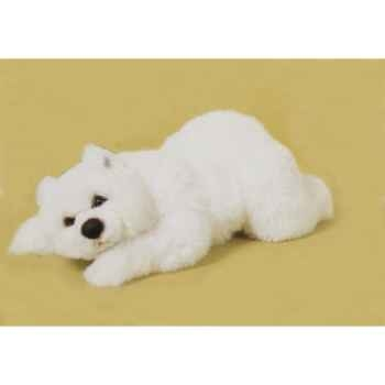 Peluche allongée ours polaire 50 cm Piutre -2116