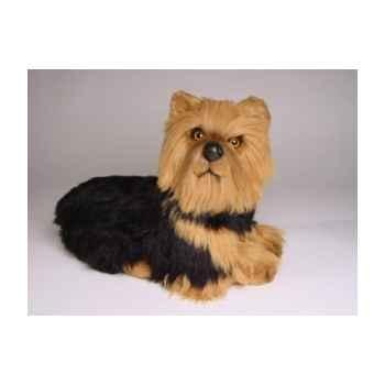 Peluche allongée yorkshire terrier 35 cm Piutre -3299