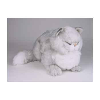 Peluche chat persan argenté dormant 40 cm Piutre -2437