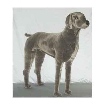 Peluche debout Braque de Weimar 90 cm Piutre -3350