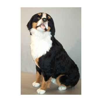 Peluche assise chien de berger Bernois 100 cm Piutre -1261