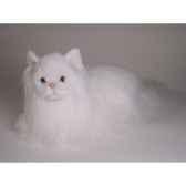 peluche allongee chat angora blanc 45 cm piutre 2333