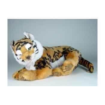 Peluche allongée tigre du bengal 55 cm Piutre -2516
