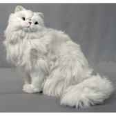 peluche assise chat persan 45 cm piutre 311